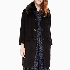 Kate Spade - faux fur/velvet trim coat MSRP  $748